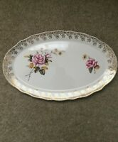 Vintage Lord Nelson Pottery Scalloped Edge Oval Dish Elijah Cotton