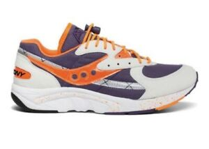Saucony Aya Mens US 12 White Purple Orange Sneakers Shoes Retro Runners Trainers