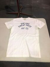 ABECROMBIE & FITCH - BRAND NEW WHITE  SHORT-SLEEVE T-SHIRT - SIZE ADULT MEDIUM