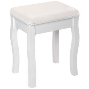 Taburete de tocador piano silla de estilo de vanidad maquillaje dormitorio blanc