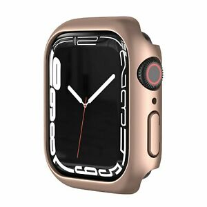 Frosted Matte Case for Apple Watch 7 Hard PC Bumper Protective Frame 41mm 45mm