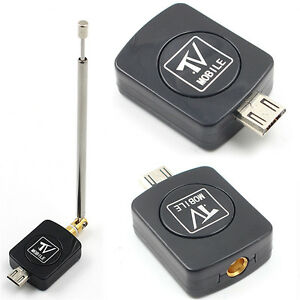 Micro USB DVB-T HD TV Tuner Digital Satellite Dongle Receiver For Phone TV  C^lk