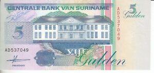 Surinam  5 Gulden  1991   kassenfrisch