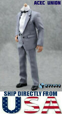 "1/6 Scale GRAY Color Suit Full Set For 12"" Hot Toys Phicen Male Figure U.S.A."