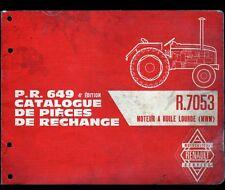CATALOGUE Piéces de rechange / TRACTEUR RENAULT P.R.649 / R.7053