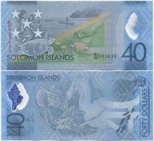 Solomon Islands 40 Dollars 2018 UNC Commemorative, Polymer, New design