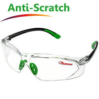 Safeyear Safety Glasses Work Goggles Anti-Fog Anti-UV Side Shield Neck Cord Z87+