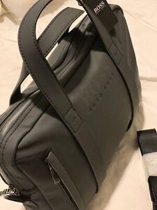NWT Hugo Boss Men's Black Document Briefcase $595