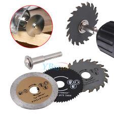3* HSS 54.8mm Mini Wood Circular Saw Blade Cutting Blade Rotary Tool+Mandrel Set
