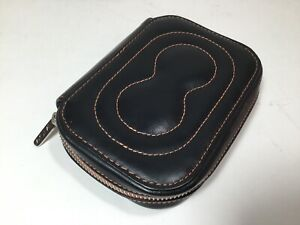 """ACME Studio """"Body"""" Quilted Black Leather Wallet by Karim Rashid NEW"""