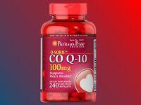 Puritan's Pride Q-SORB CO-Q10 100mg 240 Softgels heart health - Exp 04/2021+