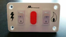 RV Atwood Water Heater White Dual Switch Panel 91230 for Gas / Electric Models