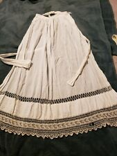 Gorgeous Antique Lady's Lace Apron- Late 1800s/Early 1900s. Size S-M. Authentic.