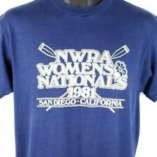 NWRA Womens Nationals T Shirt Vintage 80s 1981 Rowing Crew Made In USA Large