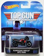 Hot Wheels Top Gun Kawasaki Ninja GPZ 900R Retro Ent #CFR29 NRFP 2015 Black 1:64