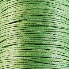 Cordon Coton Ciré 0,8mm – 5 Mètres Vert Anis pr Colliers et Bracelets de perles