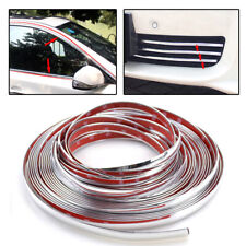 3M/12mm Car Styling Chrome Decorative Strips Door Window Body Molding Trim Cover