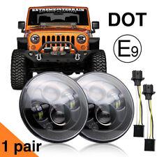 """For Hummer H2 Wrangler 7"""" DOT Round LED Headlights Lamp JK JKU Headlights"""