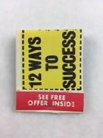 Vintage 12 Ways to Success Correspondence School Promotional Matchbook