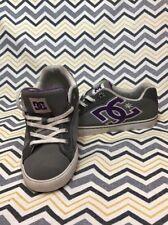DC Skateboarding Shoes Woman's Aubrey Gray /Purple Size 7 1/2