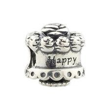 Retired Pandora Sterling Silver .925 Bead Charm Jewelry Happy Birthday Cake