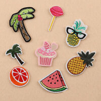 8pcs Embroidery Sew On Patch Badge Fruit Bag Hat Jeans Dress Applique DIY Craft