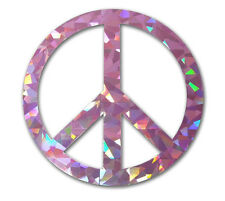 Peace Sign - Pink Reflective Decal