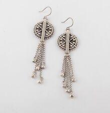 LUCKY BRAND Silver-Tone Tribal Fringe Earrings JLRY4238 NWT