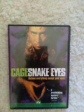 Snake Eyes (Dvd, 1999, Sensormatic) Nicolas Cage