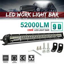 22'' 1200W Led Light Bar Dual Row Spot Flood Combo Work UTE Truck SUV ATV 20inch