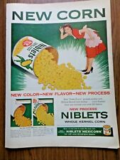 1954 Jolly Green Giant Ad New Corn New Color New Flavor New Process