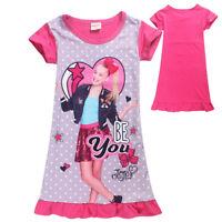 JOJO SIWA Cartoon Kids Short Sleeve Dress Girl Summer Evening Party Clothes