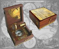 Kompass in edler Holzbox, Nautikset mit Fernrohr, Lupe u. 2 Libellen