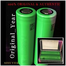 2 Sony VTC6 18650 3000mAh RECHARGEABLE BATTERY 30A / 15A DISCHARGE 3.6V