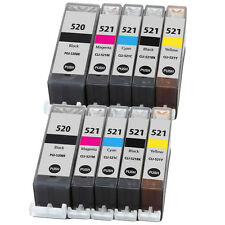 10 Chipped Ink Cartridges for Canon MP630 MP640 MP620