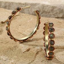 New Tara Mesa Labradorite Beaded Hoop Earrings *SOPHISTICATED* [MSRP~$225]
