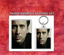 nicolas cage Key Ring & Fridge Magnet Set
