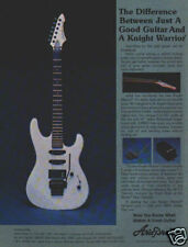 ARIA PRO II KNIGHT WARRIOR PINUP AD vtg white guitar ACT-3 tremolo vs kahler