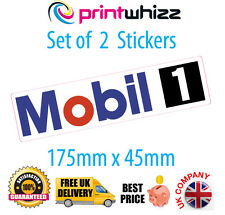 """MOBIL1  2 x 8"""" Long Stickers Motorsport Decals Quality Printed Vinyl Label"""