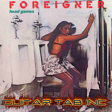 Foreigner Digital Guitar Tab HEAD GAMES Lessons on Disc Mick Jones