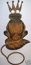 """FROG KING CANDLE HOLDER  7.8"""" L X 5.9"""" W X 17.3"""" H  Metal Construction"""