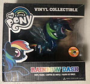 Funko My Little Pony Clear Glitter Rainbow Dash Comic-Con Figure - Rare Chase