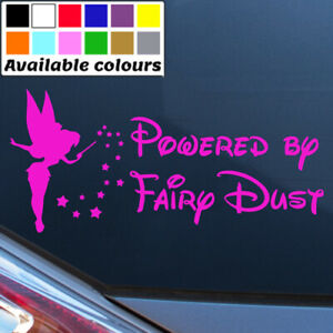 POWERED BY FAIRY DUST FUNNY CAR WINDOW BUMPER STICKER LAPTOP VINYL DECAL
