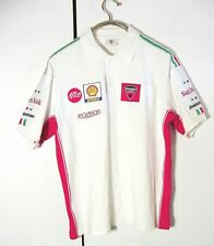 Ducati Corse Team Alice White Polo Button Shirt Sz XL
