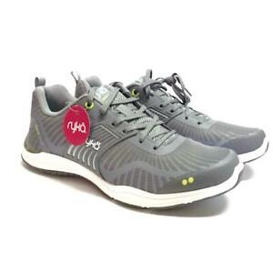 Ryka Grafik Flow Womens 7.5 37.5 Cross Trainer Shoes Mesh Lace Up Blue Gray NEW