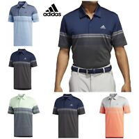 ADIDAS GOLF 2019 ULTIMATE 365 GRADIENT BLOCK STRIPE POLO SHIRT