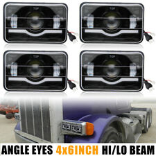 LED Rectangular Headlight Projector 4x6 inch 4pcs Sealed Beam Replacement Hi/Lo