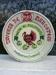Plat Joyeux Souvenir Marostica Taverne De Marostega Paeta Al Malgaragno Cas