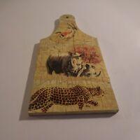 Planche à découper animaux sauvages fait main ELLA art contemporain Italie N3421