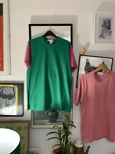 mens comme des garcons t shirt Large. Green And Pink